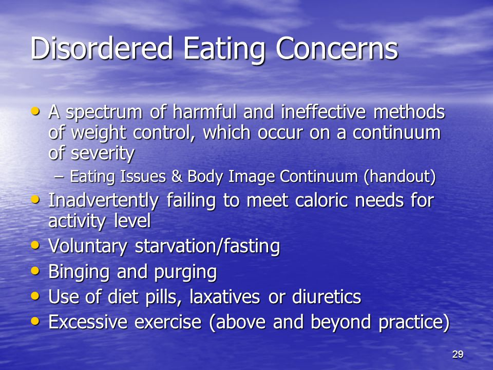Disordered Eating Concerns