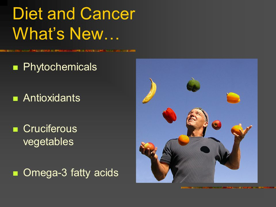 Diet and Cancer What's New…