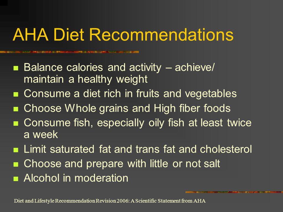 AHA Diet Recommendations