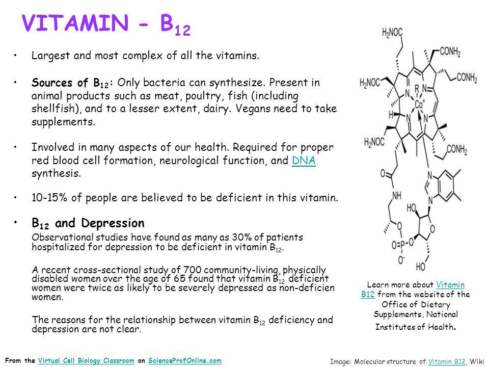 VITAMIN - B12 B12 and Depression