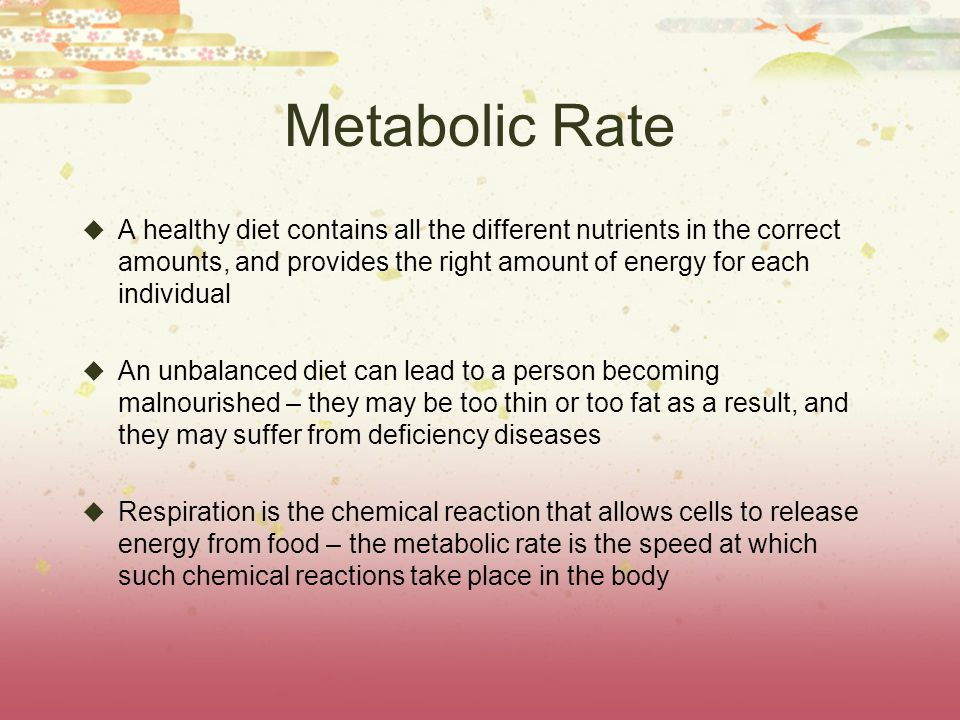 Metabolic Rate