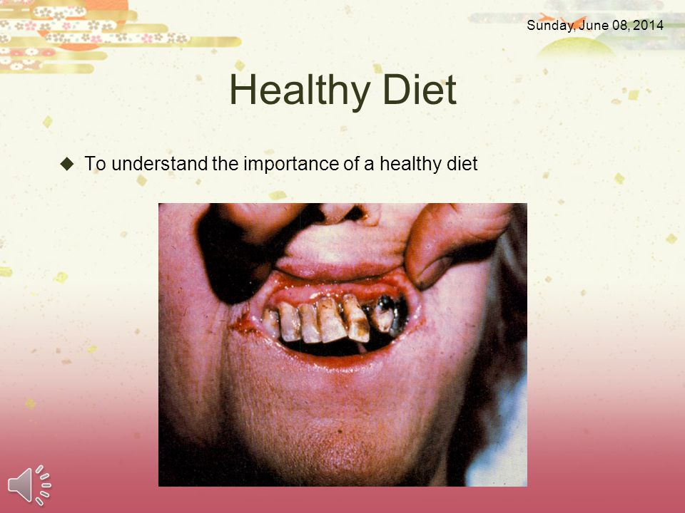 Healthy Diet To understand the importance of a healthy diet