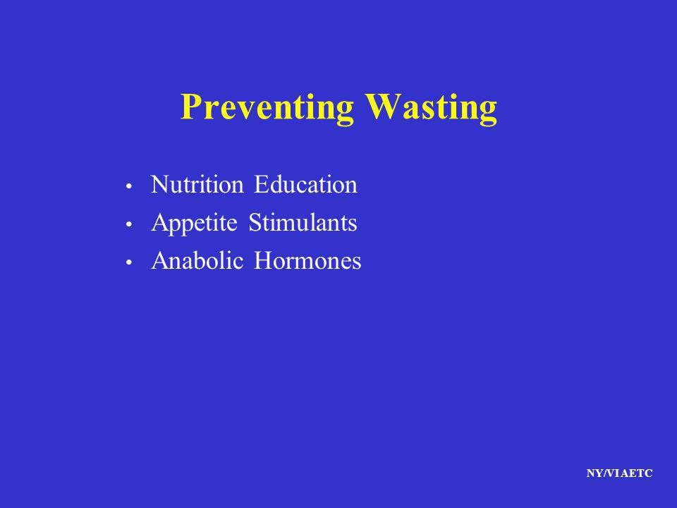Preventing Wasting Nutrition Education Appetite Stimulants