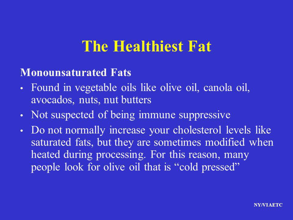 The Healthiest Fat Monounsaturated Fats
