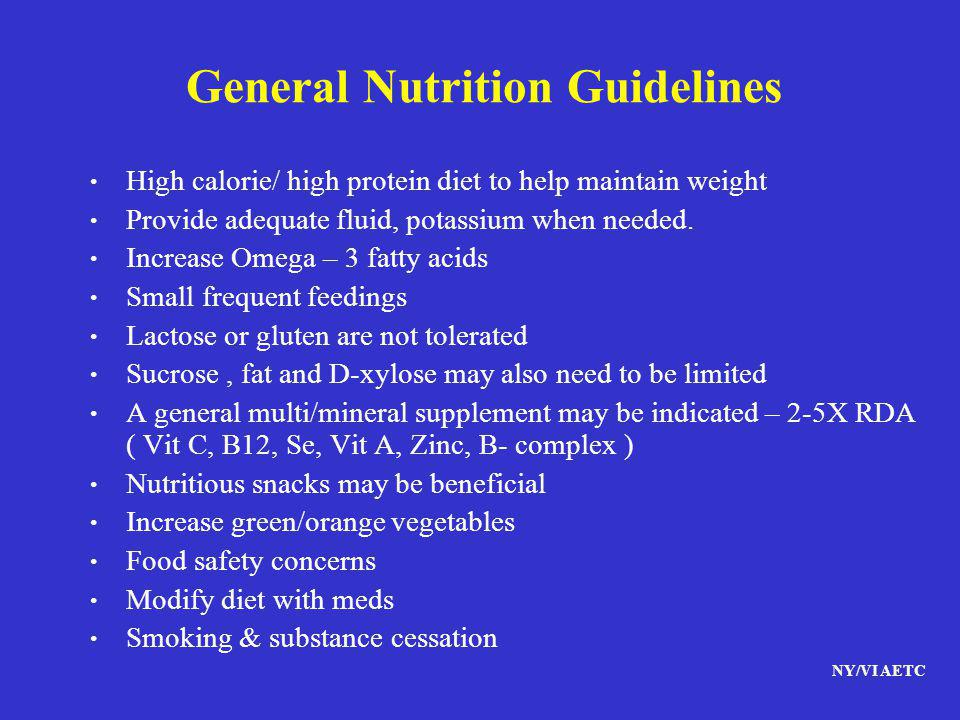 General Nutrition Guidelines