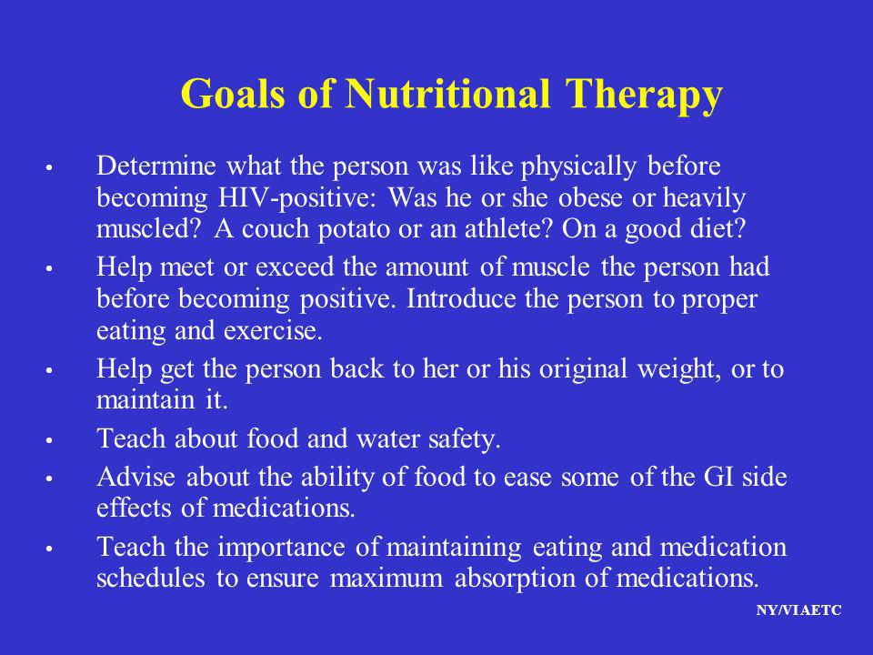 Goals of Nutritional Therapy