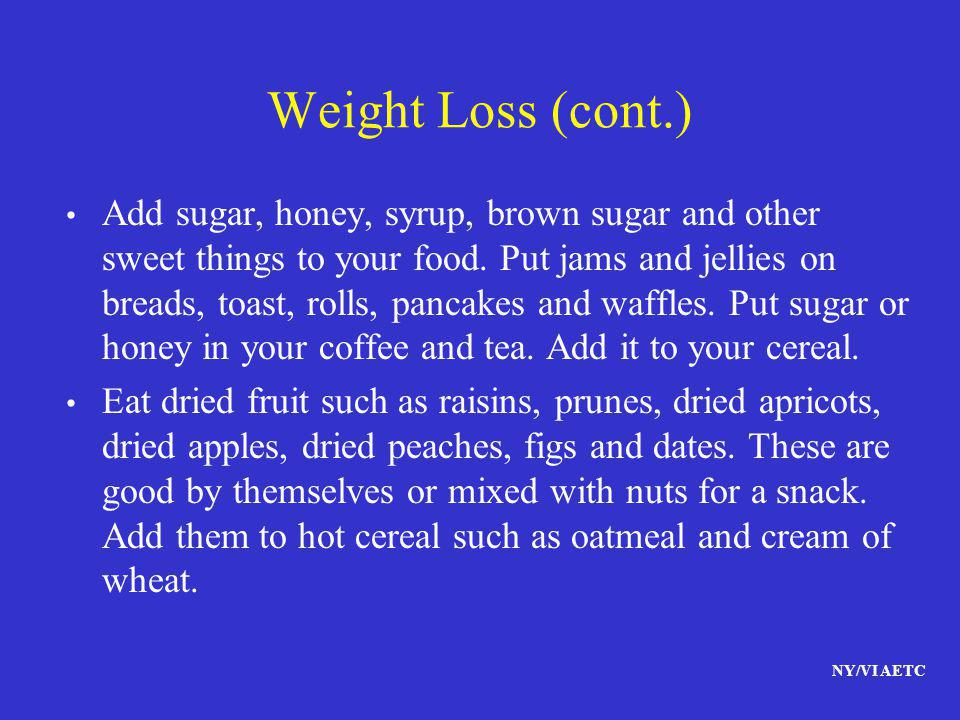 Weight Loss (cont.)