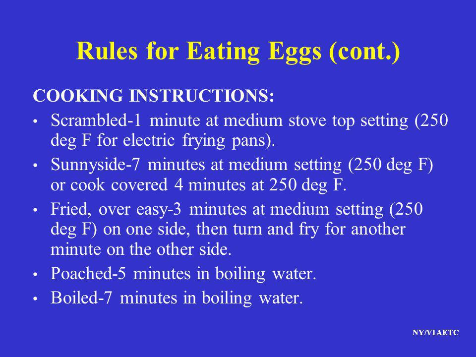 Rules for Eating Eggs (cont.)