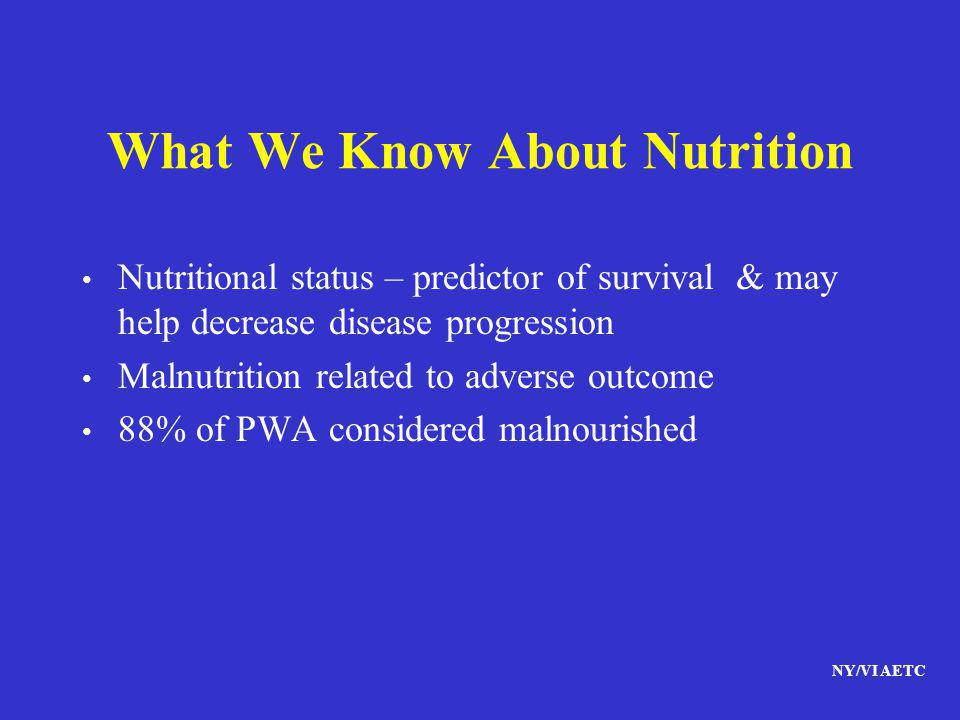 What We Know About Nutrition