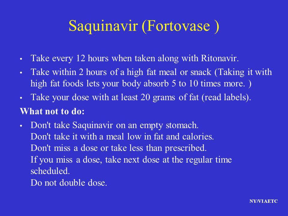 Saquinavir (Fortovase )