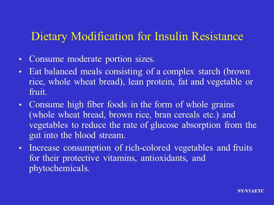 Dietary Modification for Insulin Resistance