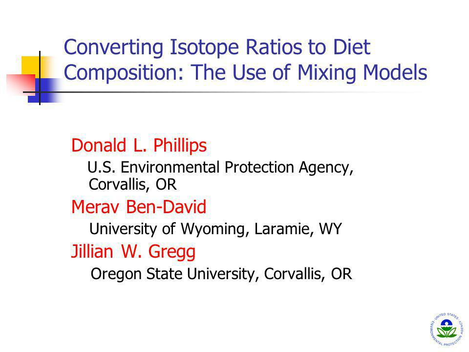 Converting Isotope Ratios to Diet Composition: The Use of Mixing Models