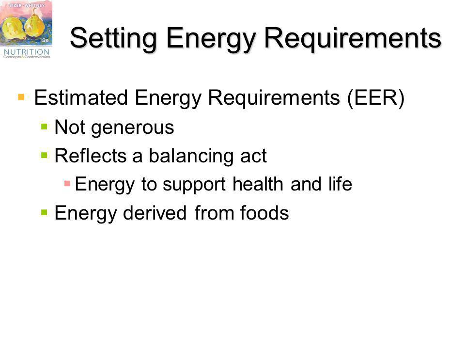 Setting Energy Requirements