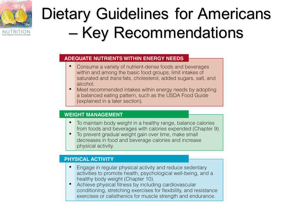 Dietary Guidelines for Americans – Key Recommendations
