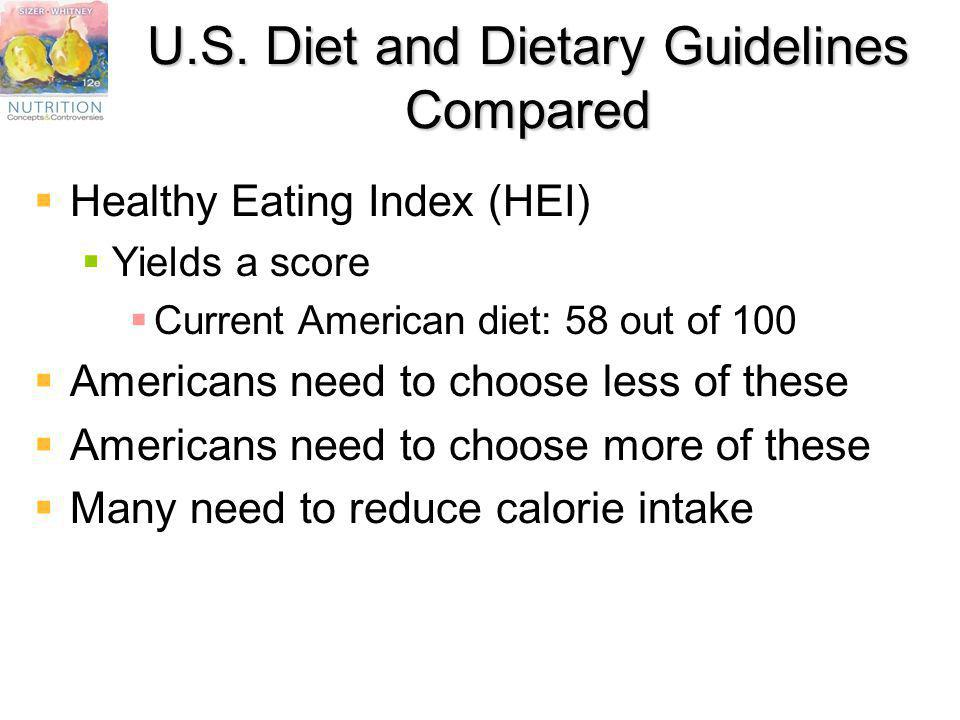 U.S. Diet and Dietary Guidelines Compared