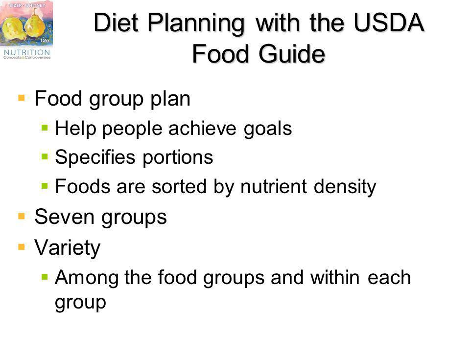 Diet Planning with the USDA Food Guide