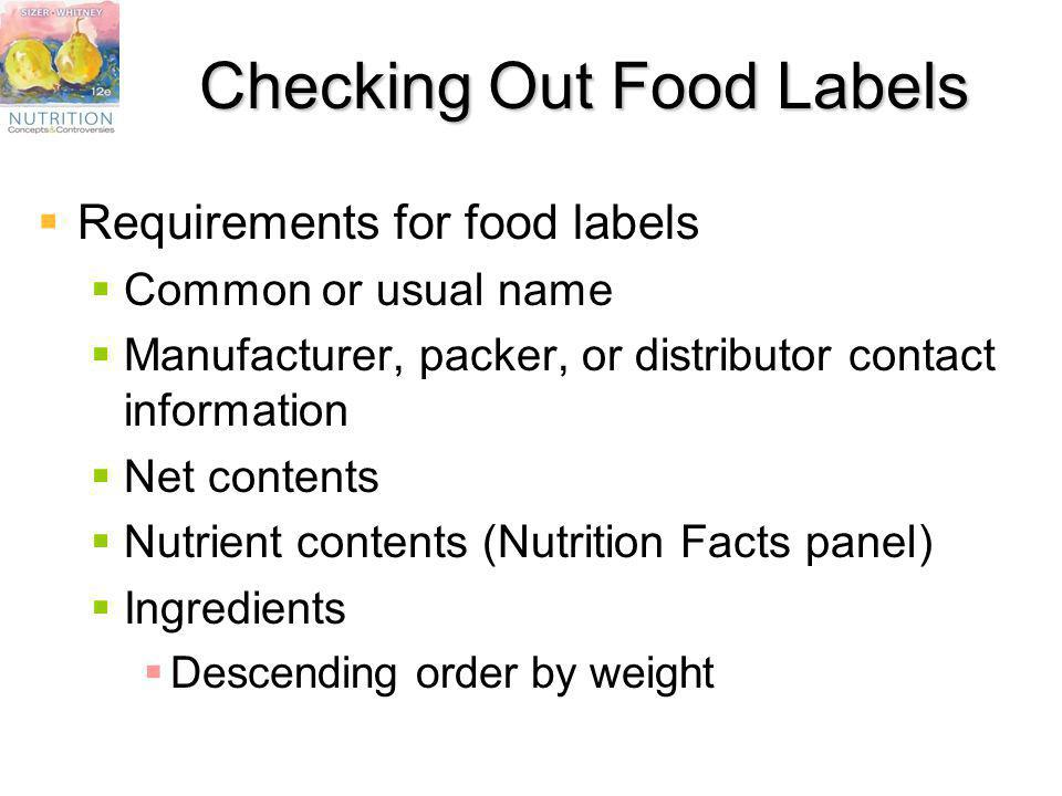 Checking Out Food Labels