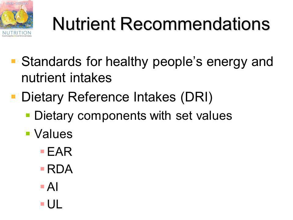 Nutrient Recommendations