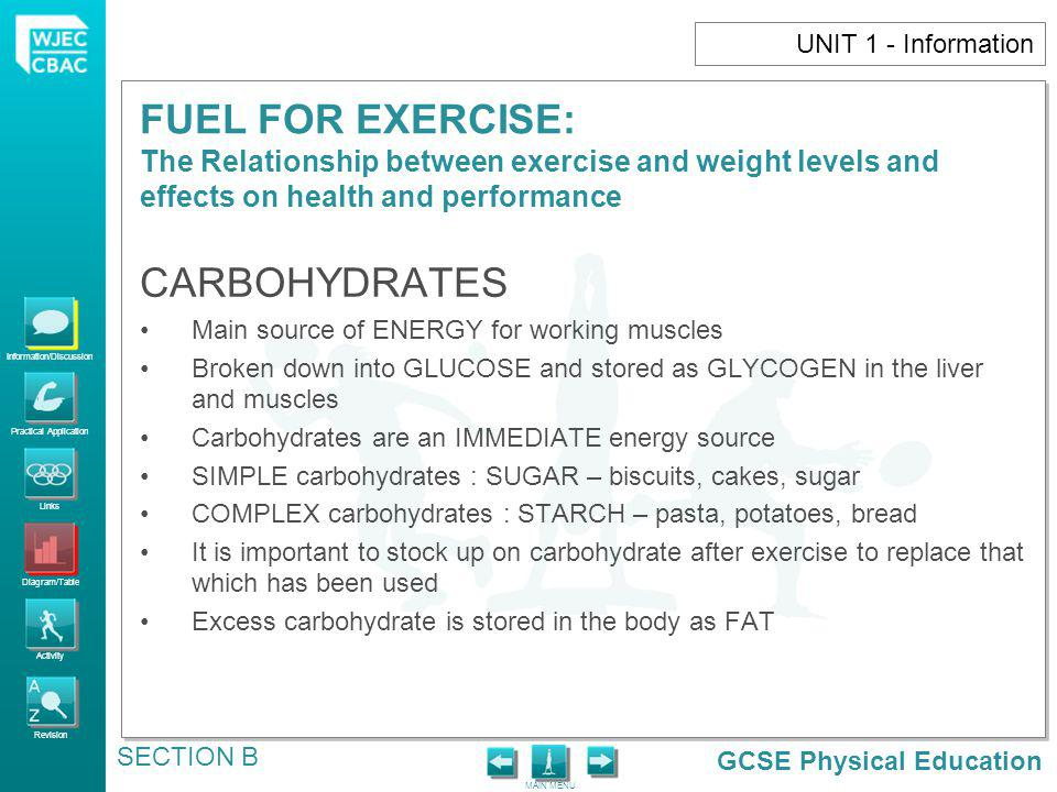 CARBOHYDRATES UNIT 1 - Information
