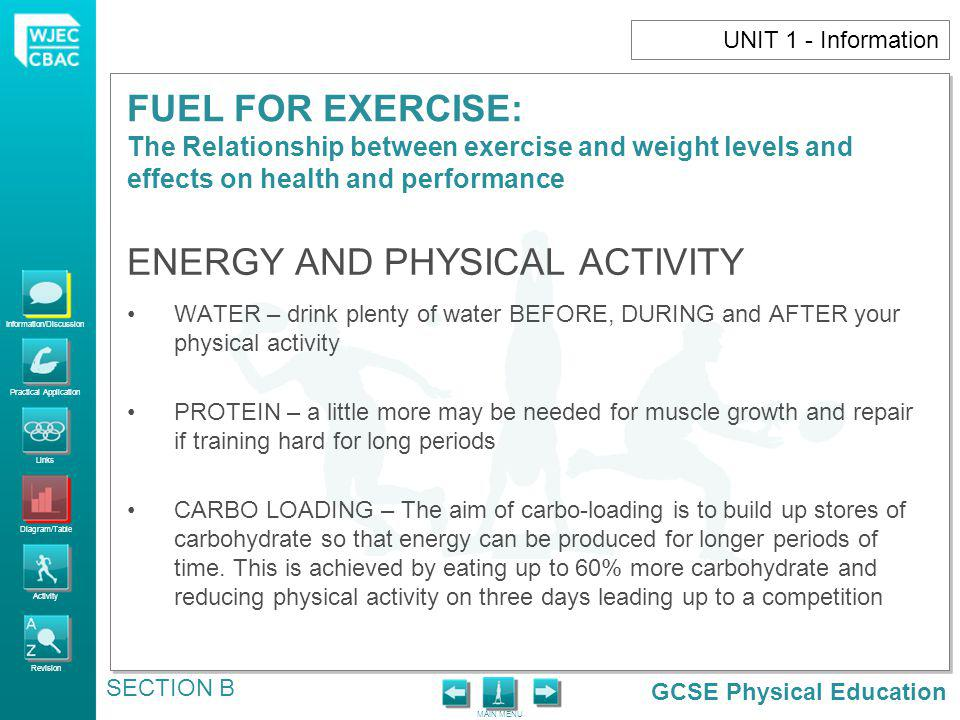 ENERGY AND PHYSICAL ACTIVITY
