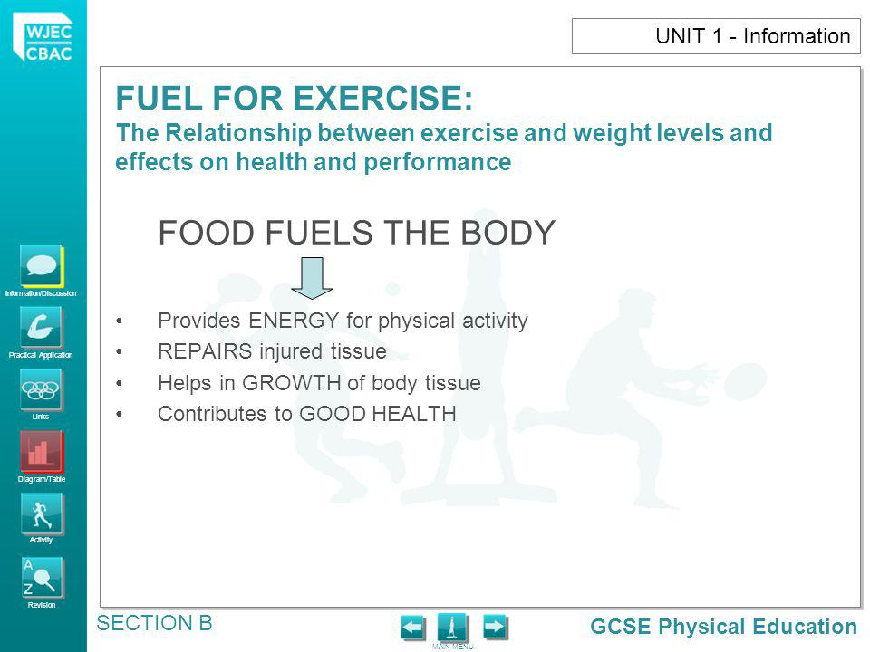 FOOD FUELS THE BODY UNIT 1 - Information