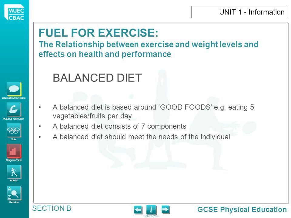 BALANCED DIET UNIT 1 - Information