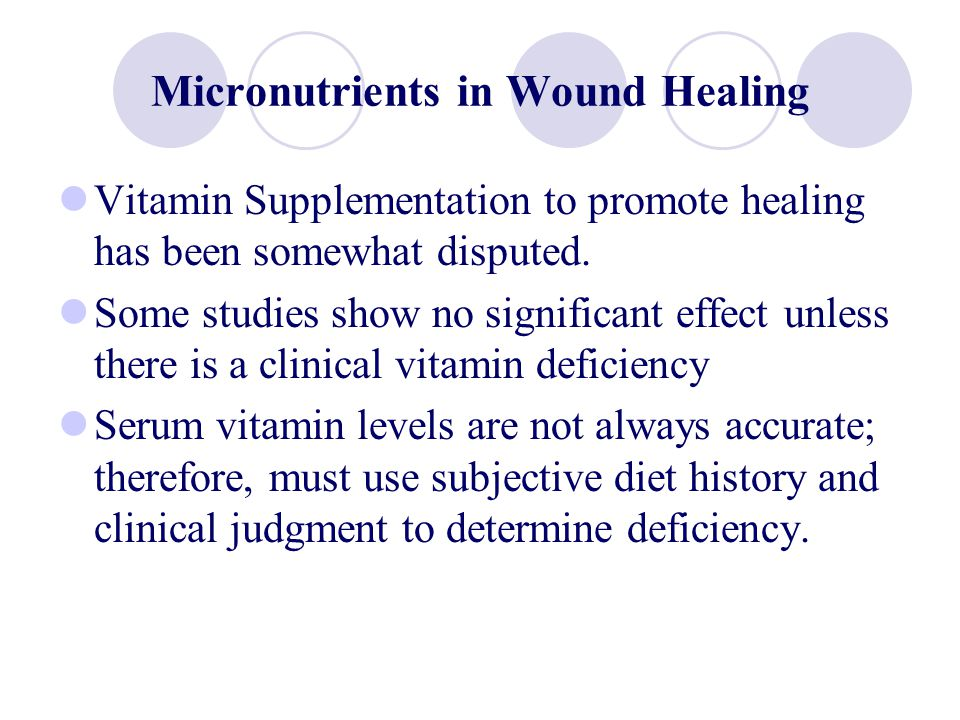 Micronutrients in Wound Healing