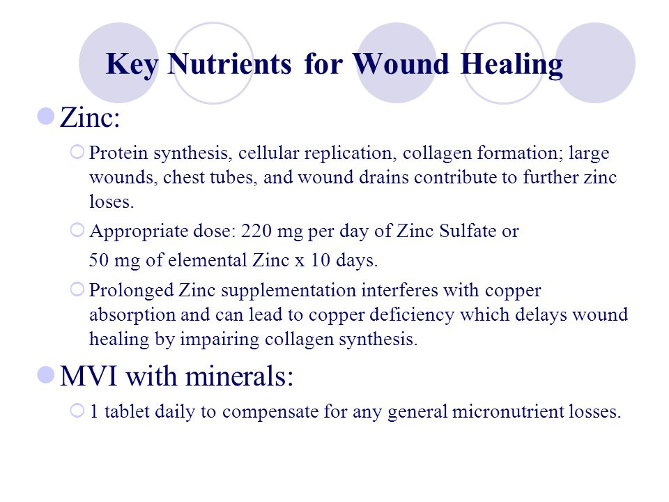 Key Nutrients for Wound Healing