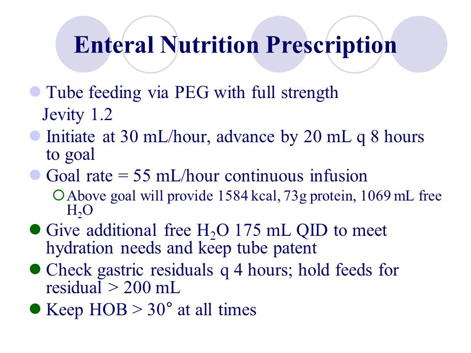 Enteral Nutrition Prescription