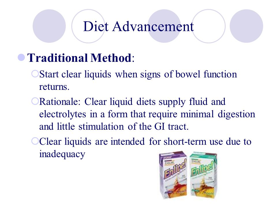 Diet Advancement Traditional Method: