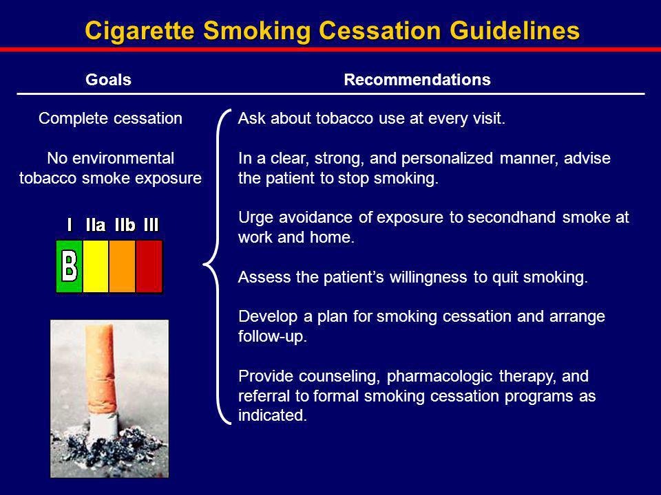 Cigarette Smoking Cessation Guidelines