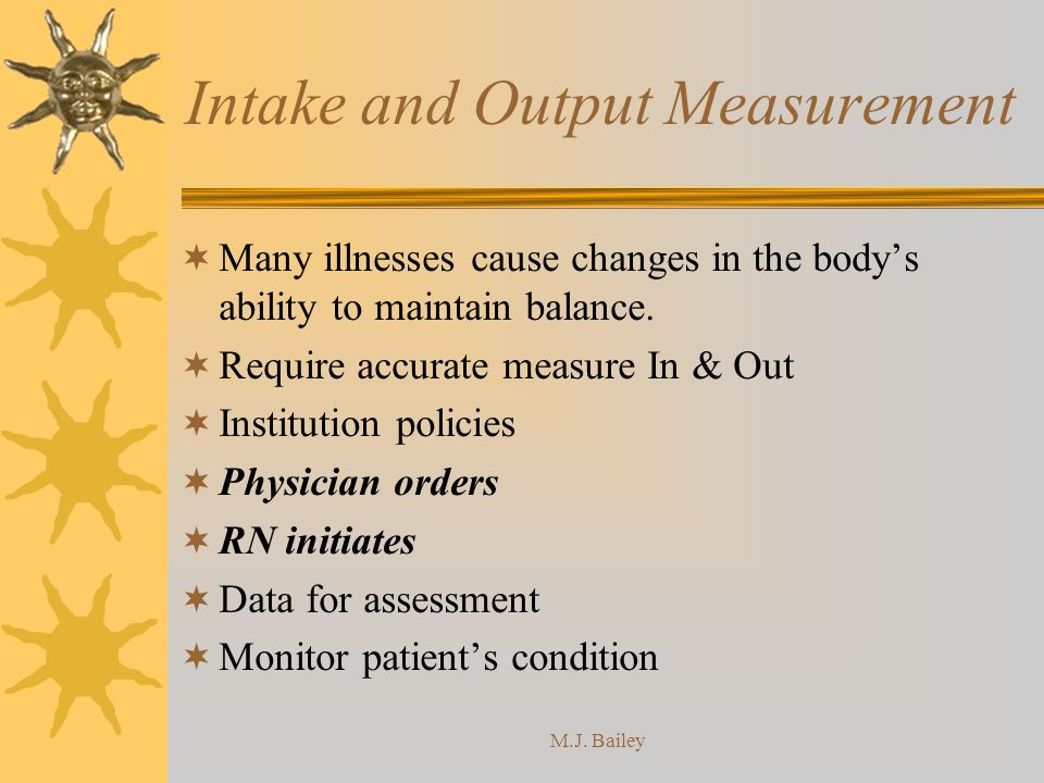 Intake and Output Measurement