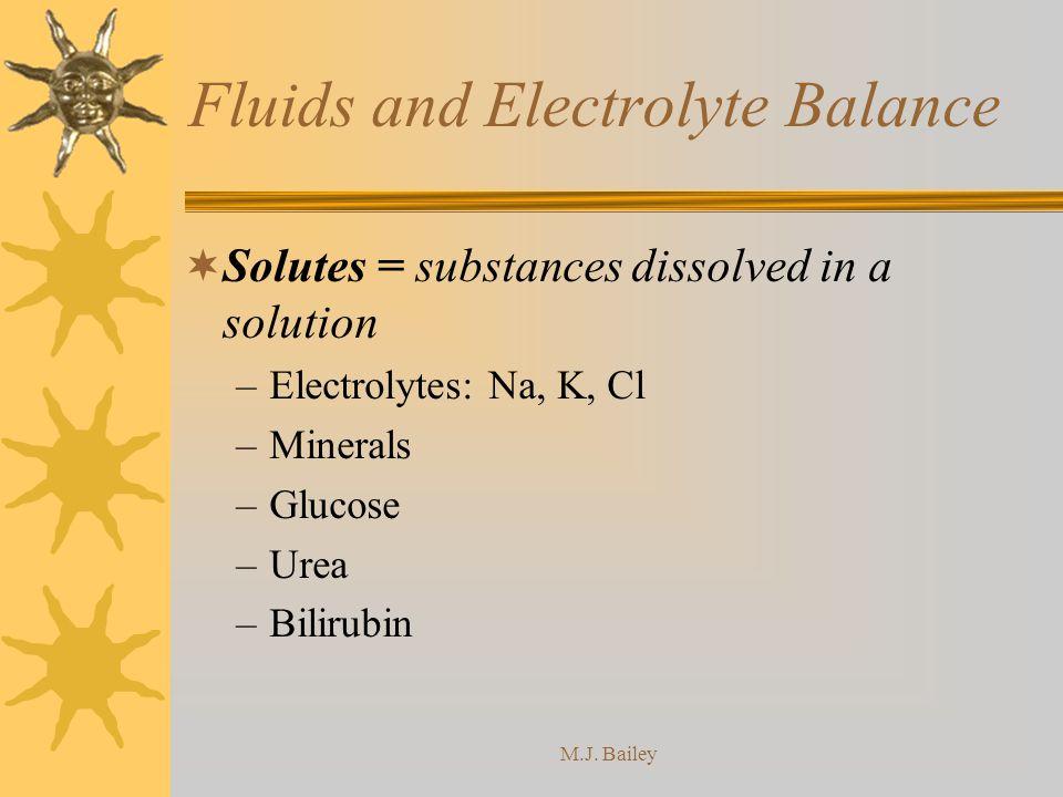 Fluids and Electrolyte Balance
