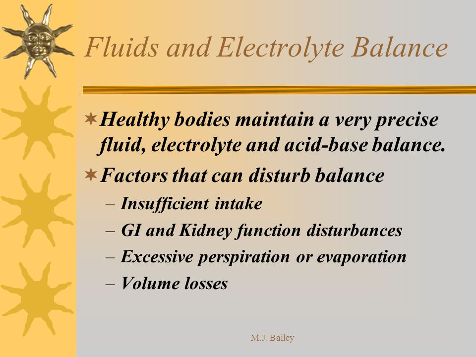 Fluids and Electrolyte Balance