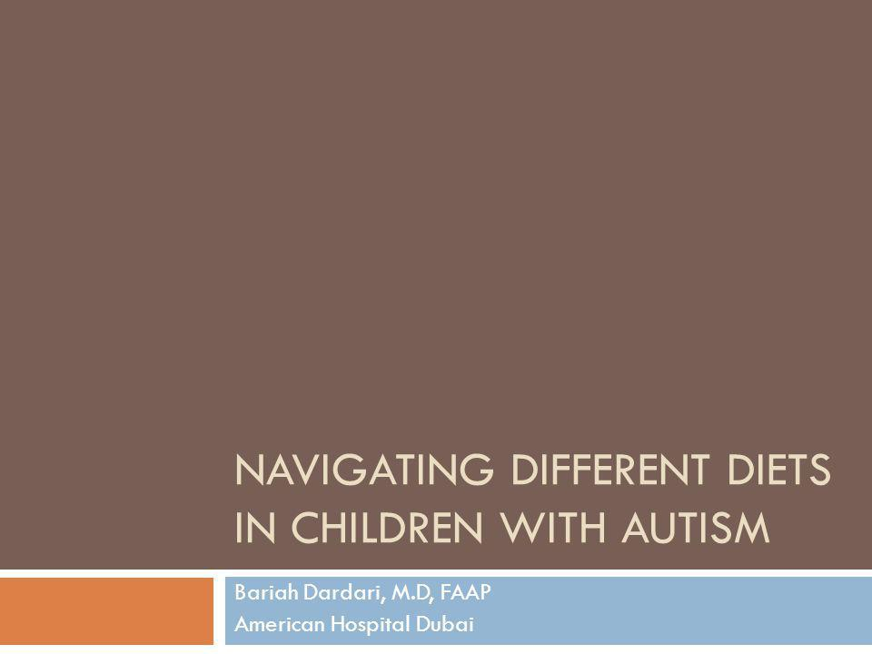 Navigating different Diets in Children with Autism