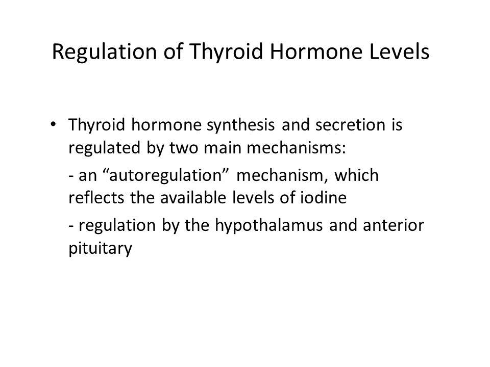 Regulation of Thyroid Hormone Levels