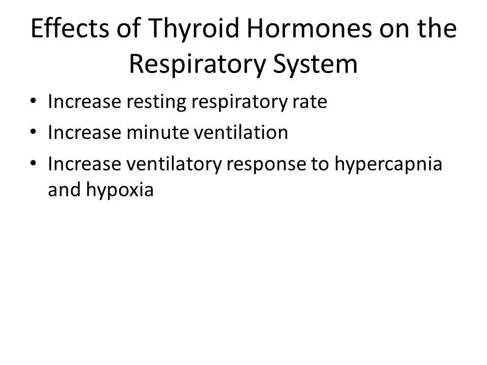 Effects of Thyroid Hormones on the Respiratory System