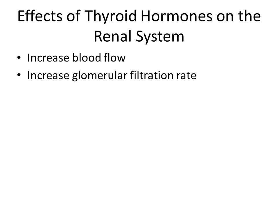 Effects of Thyroid Hormones on the Renal System