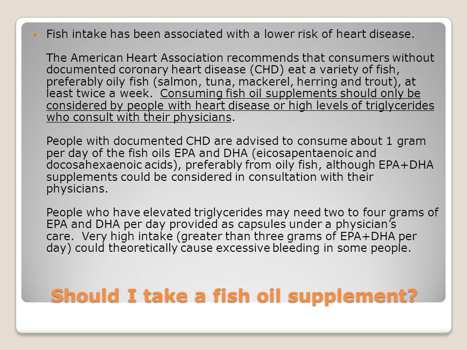 Should I take a fish oil supplement