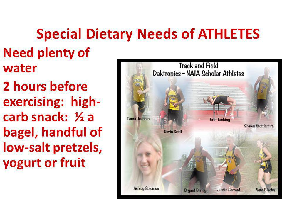 Special Dietary Needs of ATHLETES
