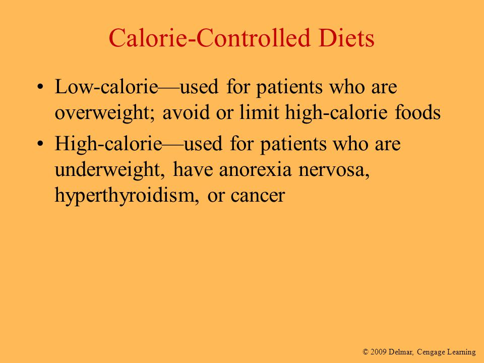 Calorie-Controlled Diets
