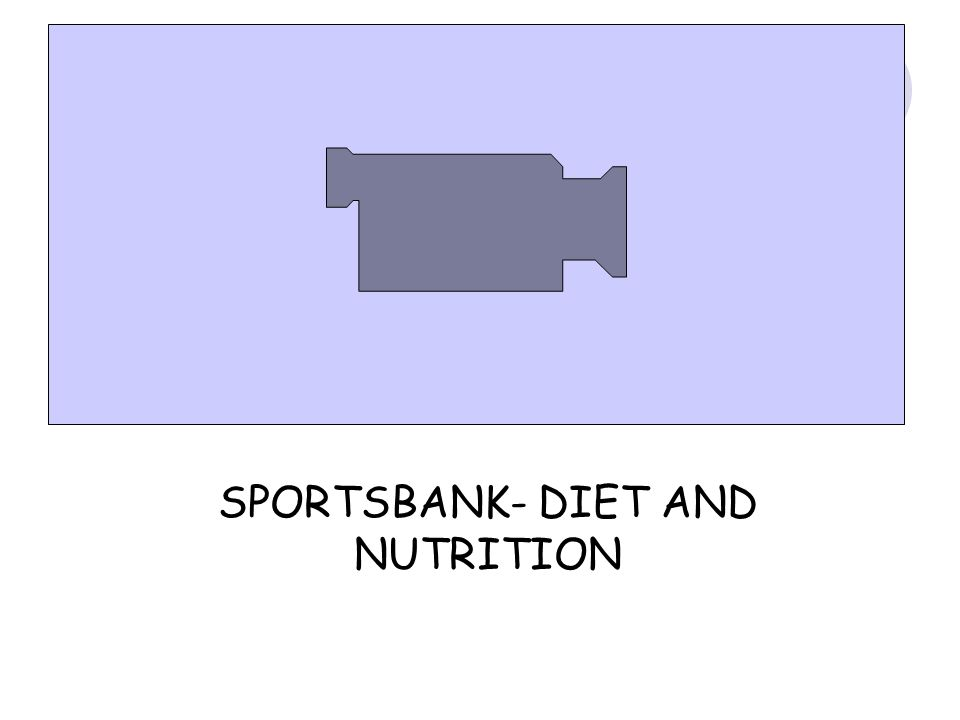 SPORTSBANK- DIET AND NUTRITION