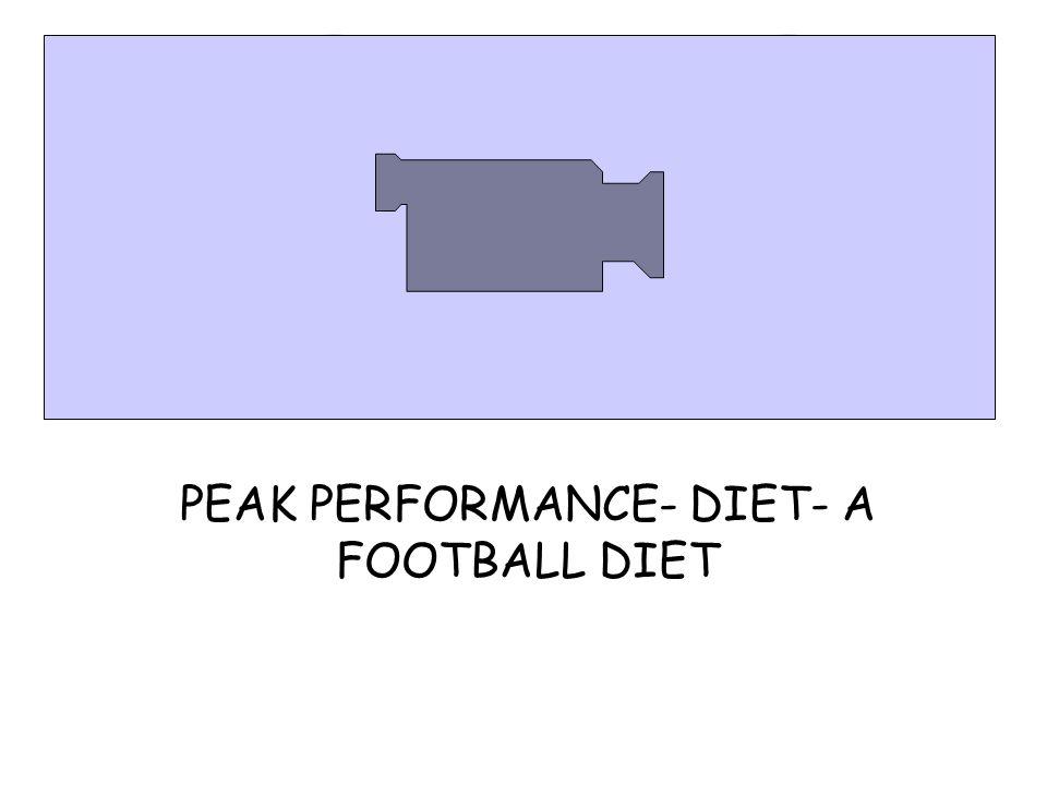 PEAK PERFORMANCE- DIET- A FOOTBALL DIET