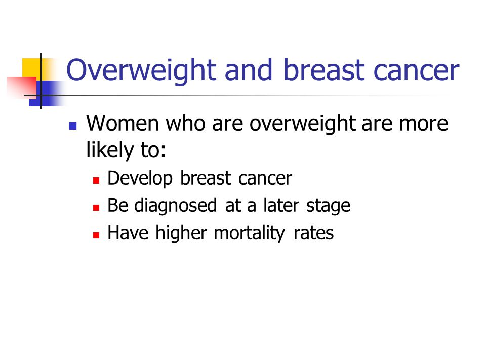 Overweight and breast cancer