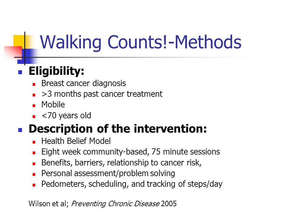 Walking Counts!-Methods