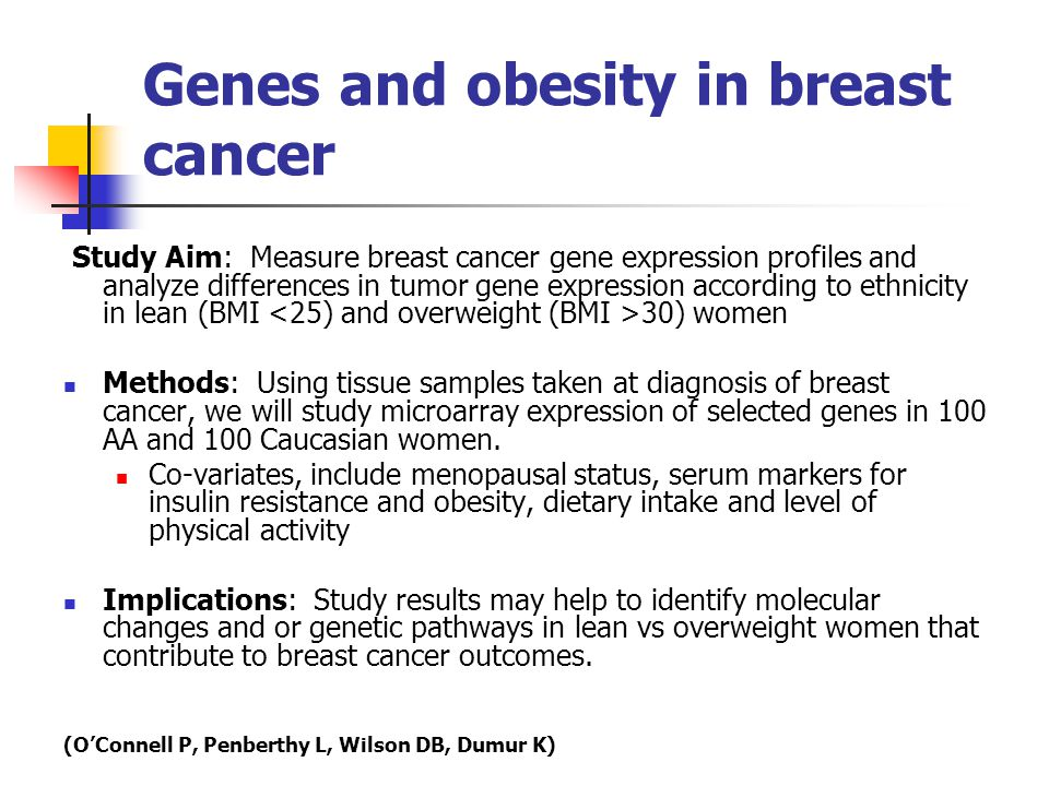 Genes and obesity in breast cancer