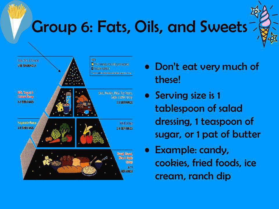 Group 6: Fats, Oils, and Sweets