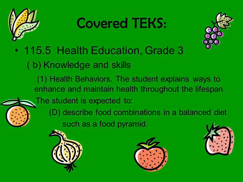 Covered TEKS: 115.5 Health Education, Grade 3