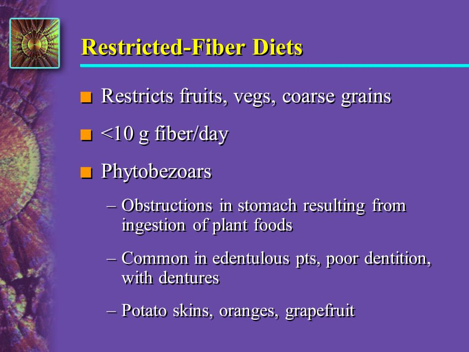 Restricted-Fiber Diets
