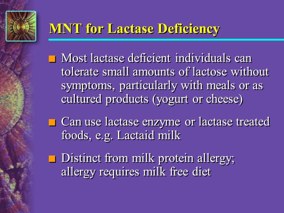 MNT for Lactase Deficiency